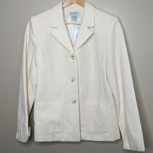 NWT 100% Pure Virgin Wool Button Up Jacket